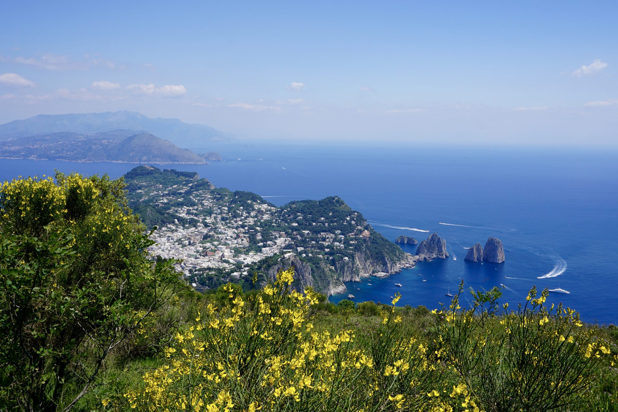 views from mount solaro, capri, italy