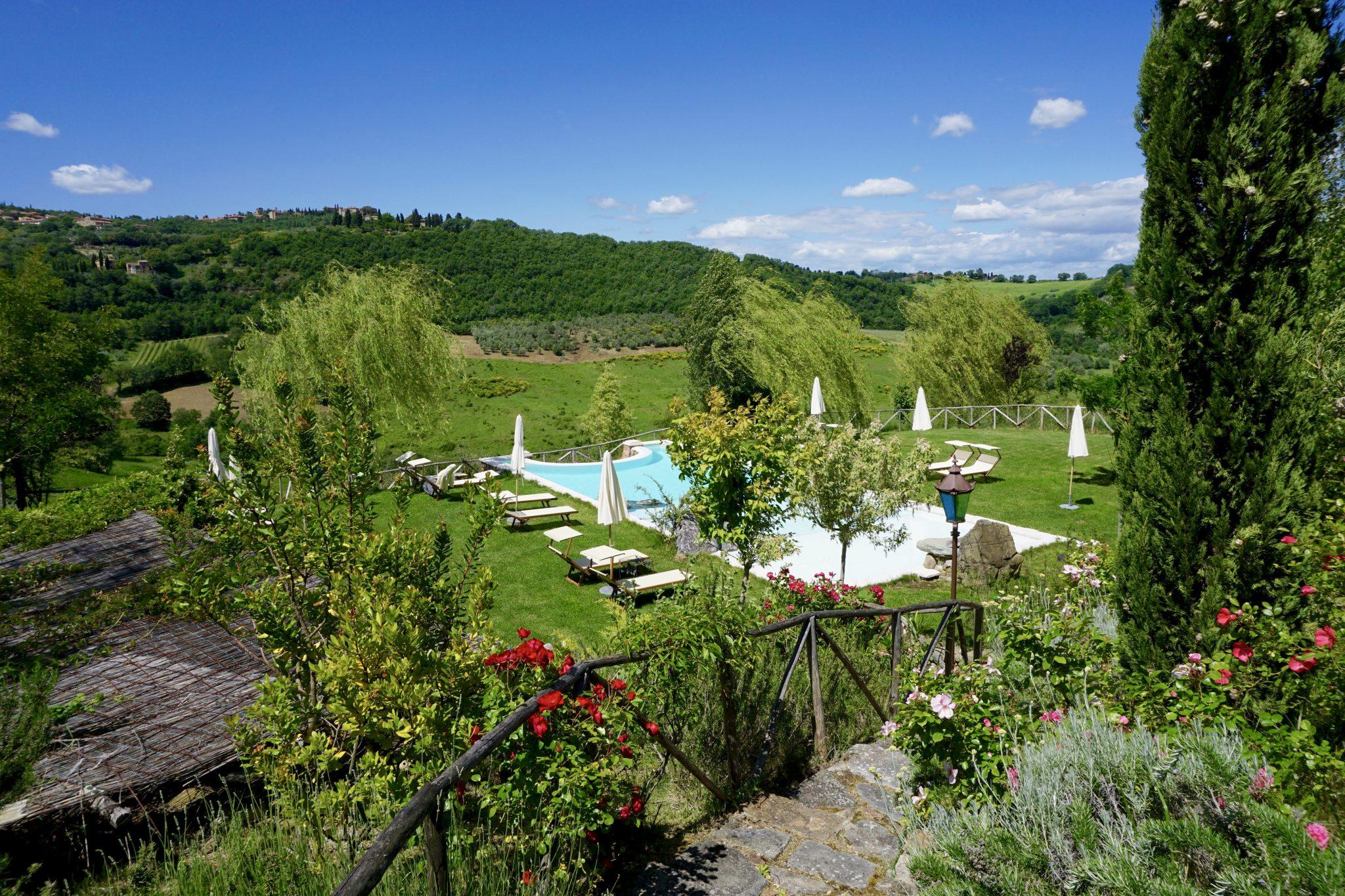 hotel lupaia pool, tuscany, italy