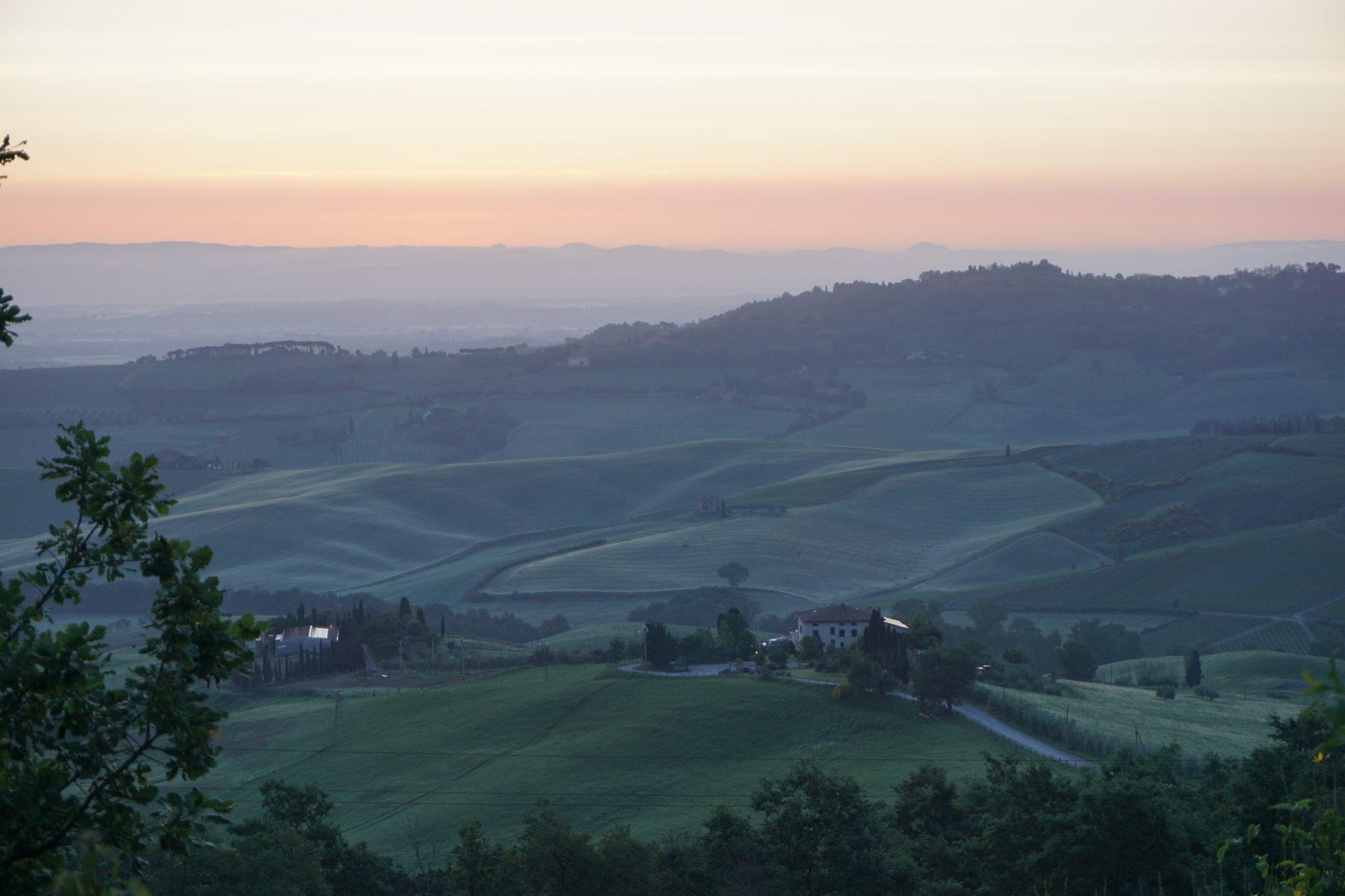 tuscany sunrise, italy