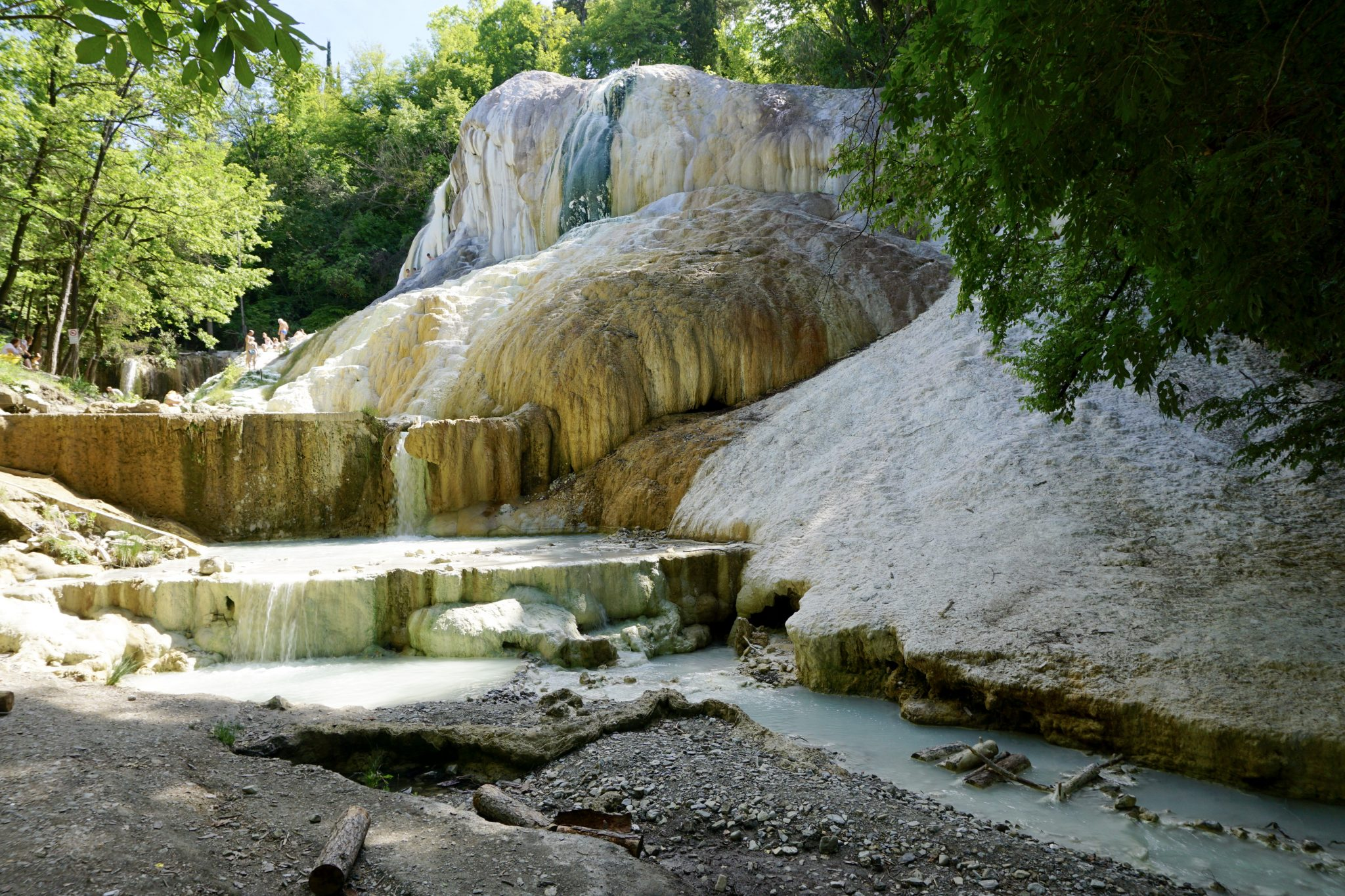 Fosso Bianco in Bagni San Filippo, hot springs, tuscany, italy