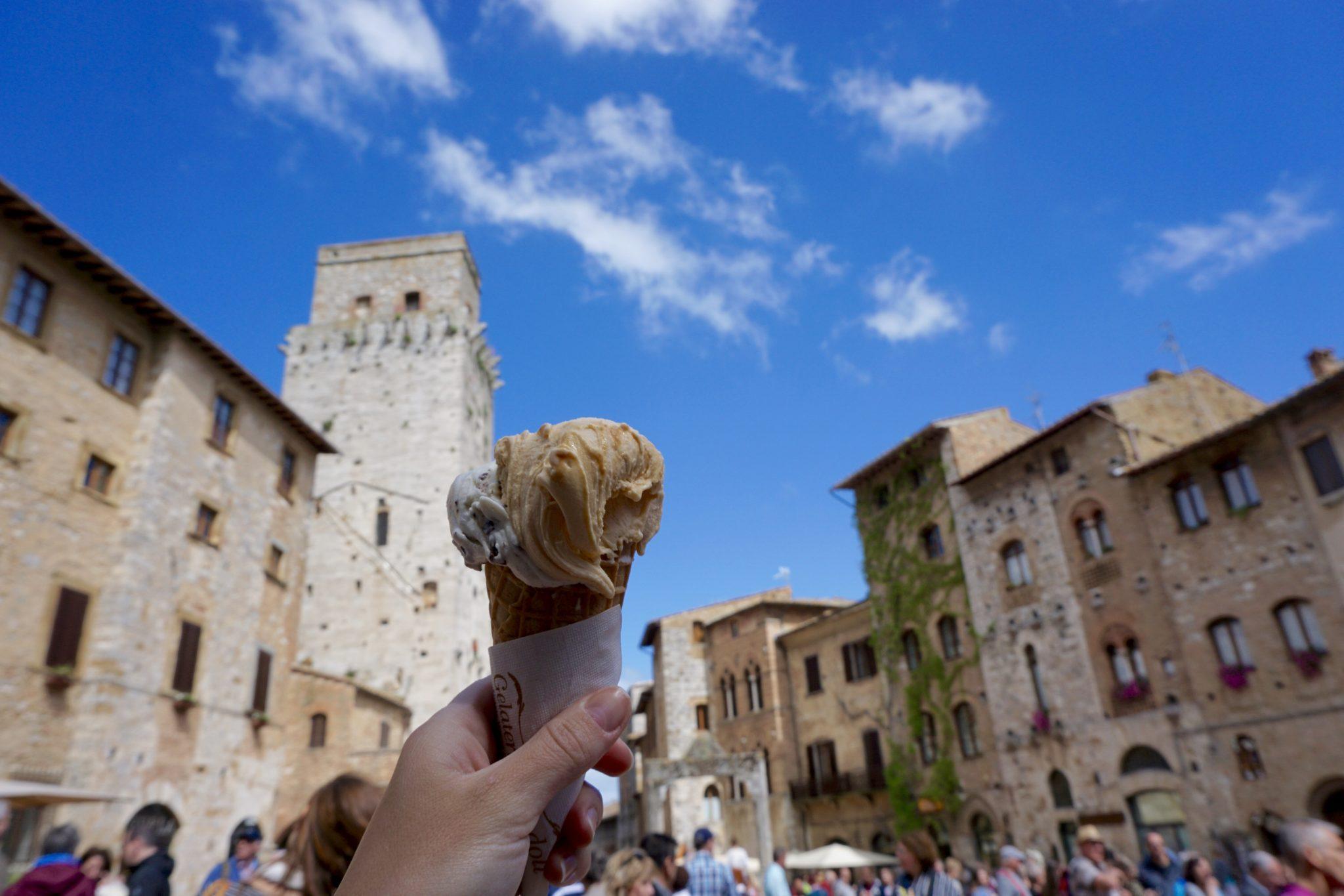 best gelato, san gimignano, tuscany, italy