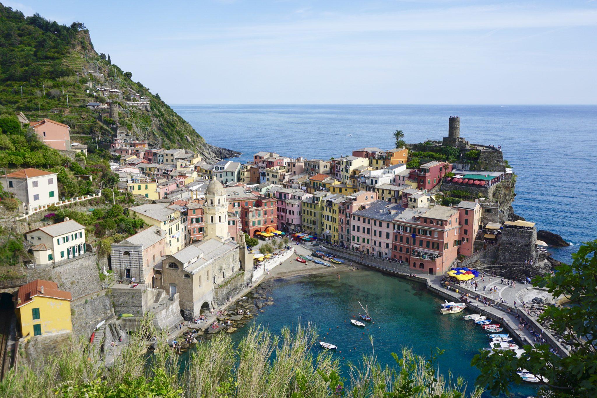 views of vernazza, cinque terre, italy