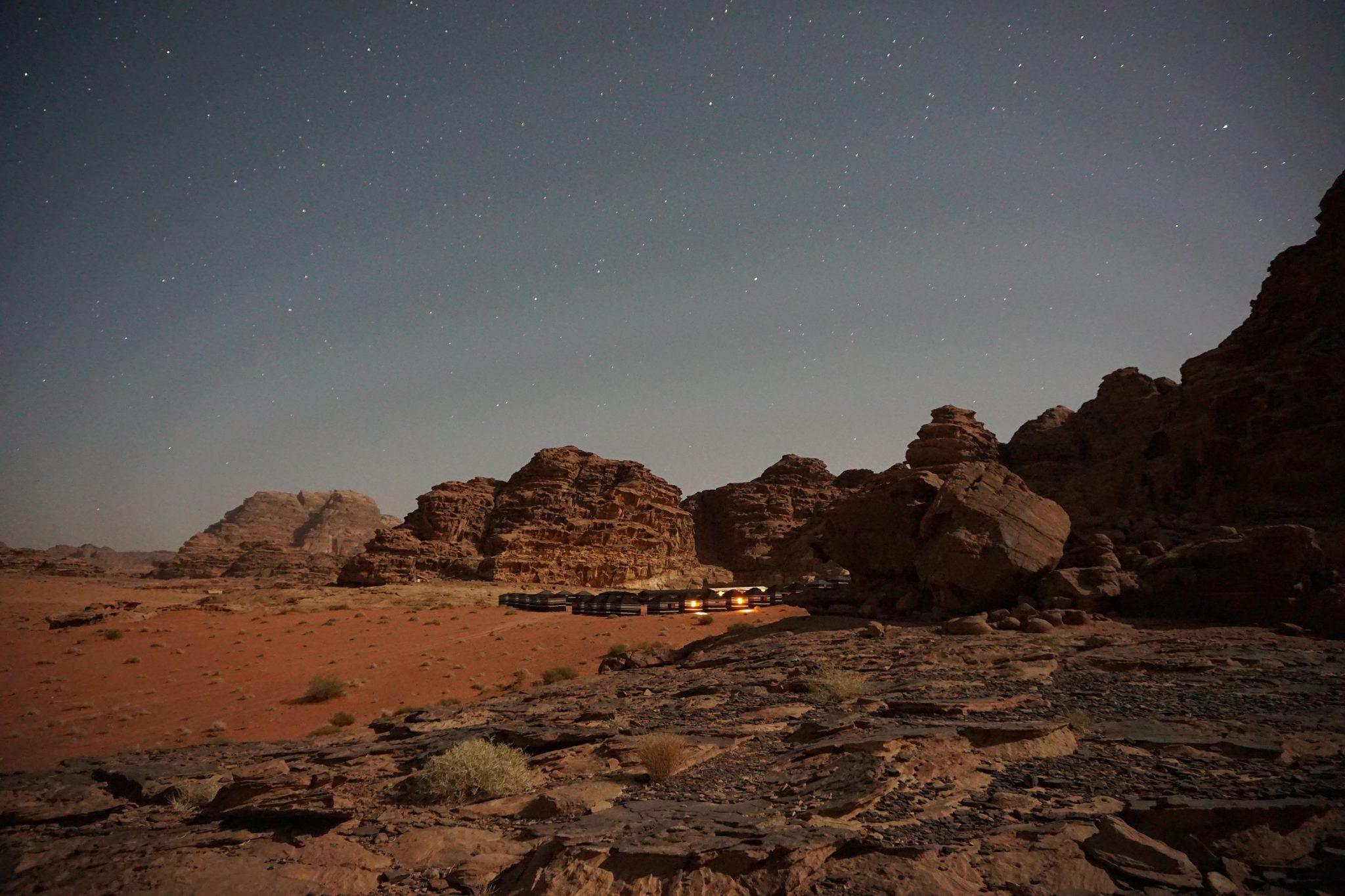 desert camp, wadi rum, jordan