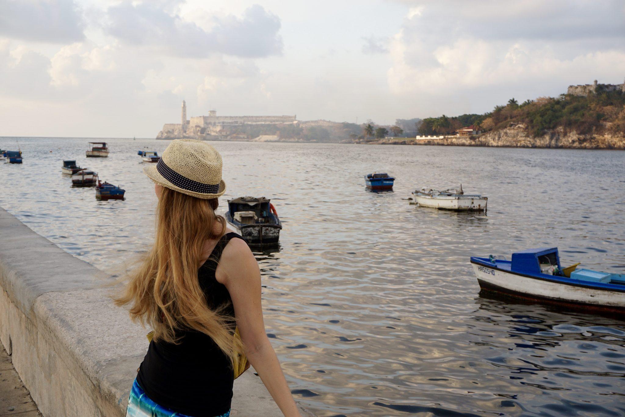 Havana, Cuba, malecon, boardwalk, sunset