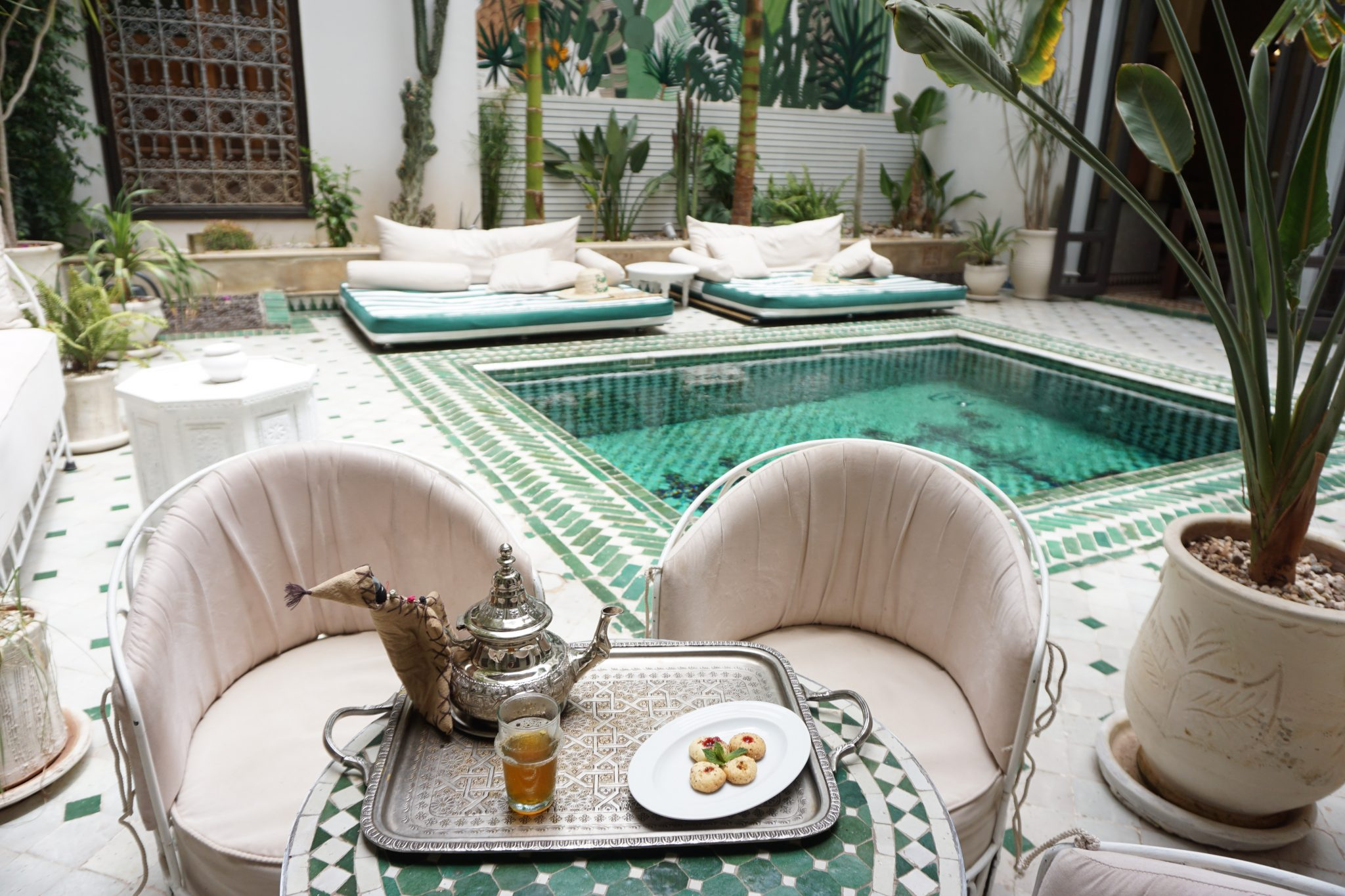 riad yasmine, marrakech, morocco, pool