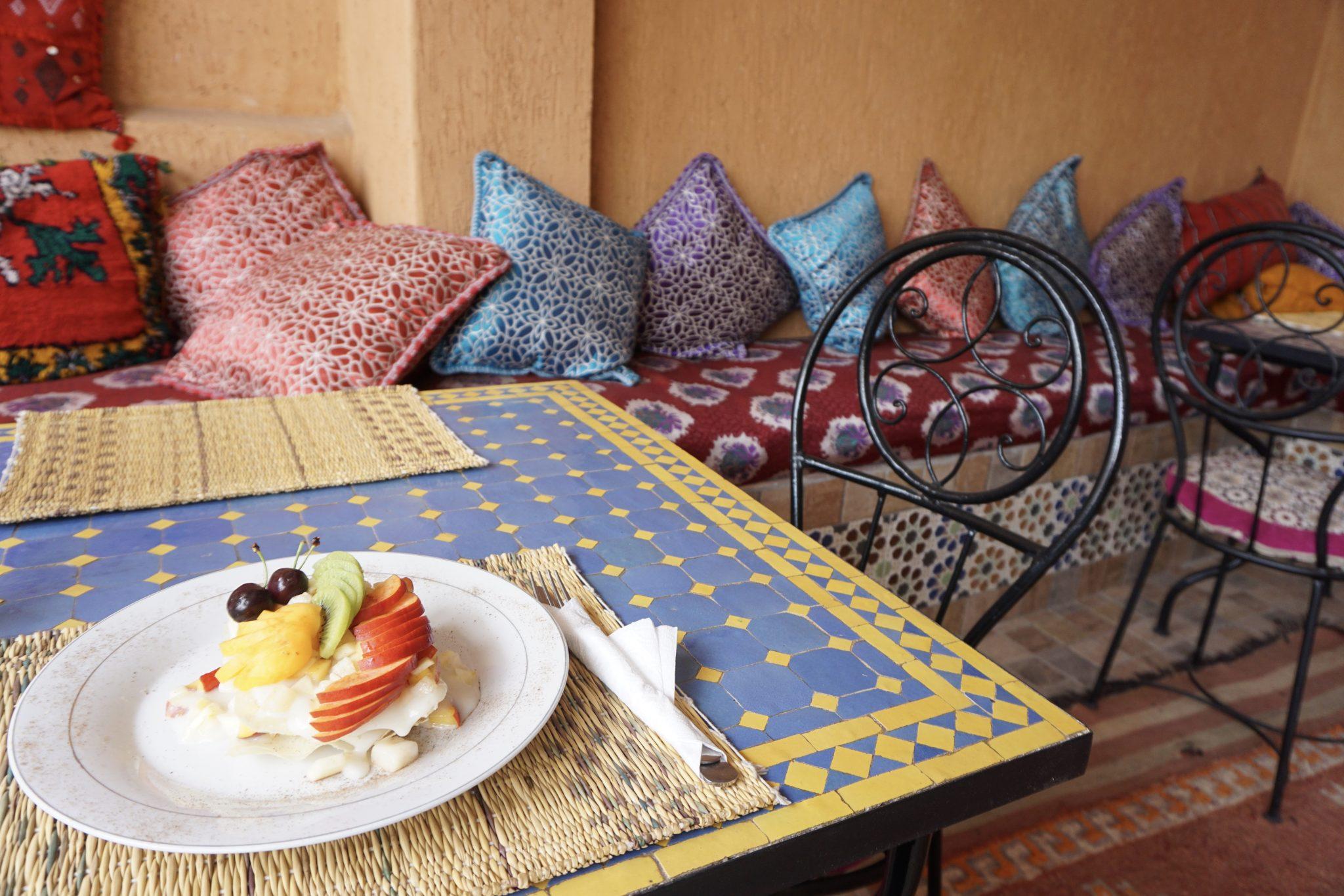 dar taxi, restaurant, marrakech, dessert