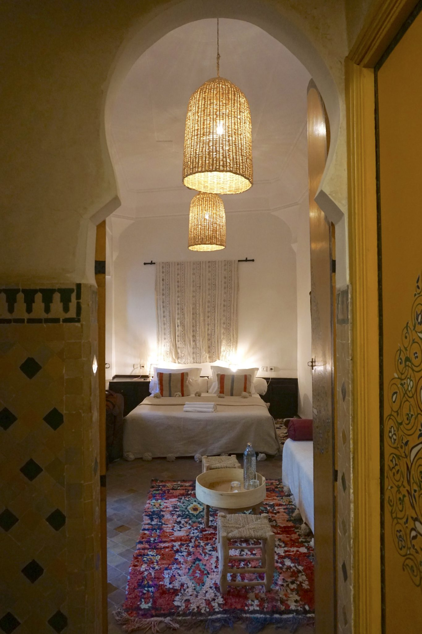 bedroom, riad yasmine, marrakech, morocco