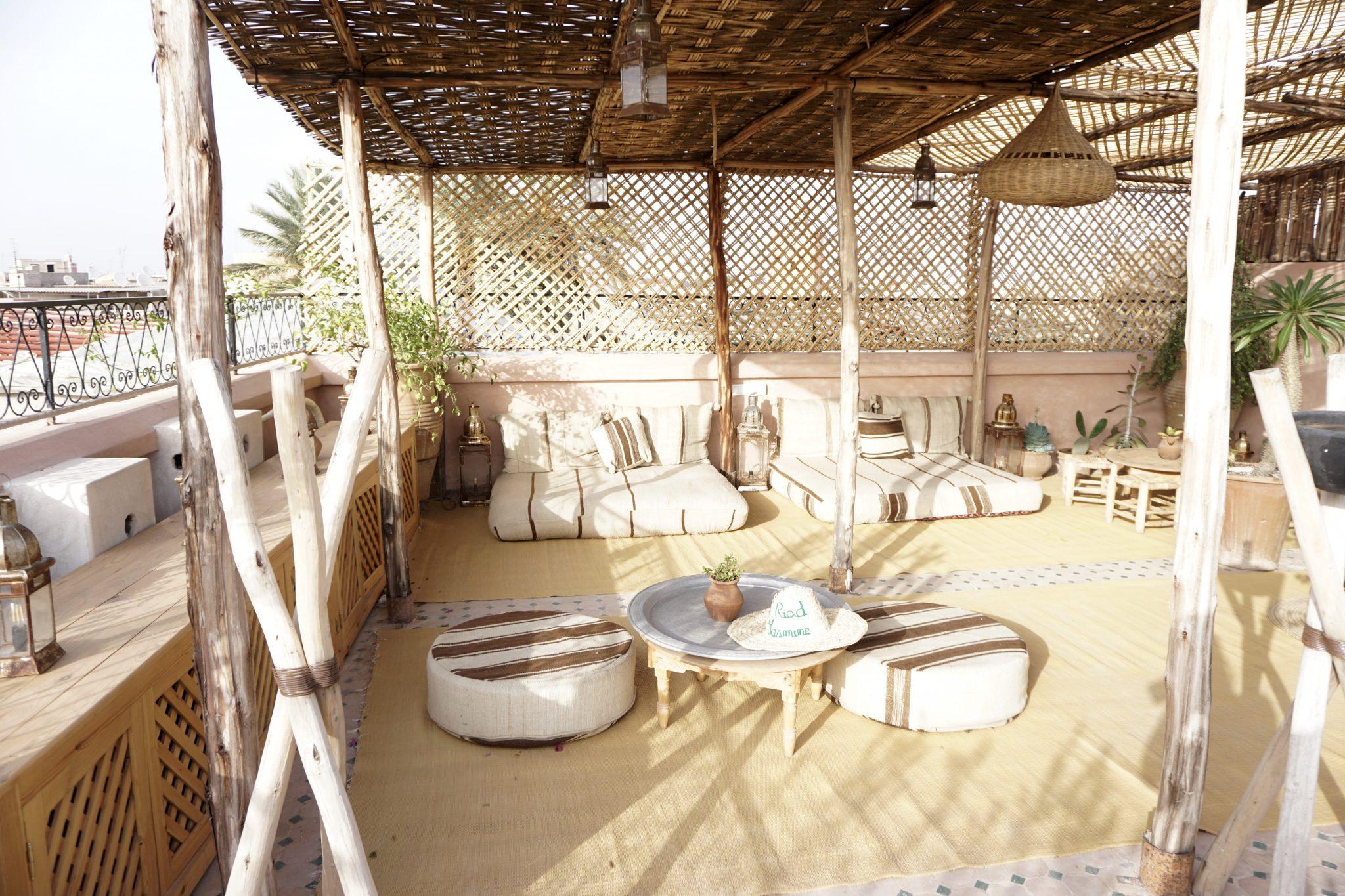 riad yasmine, rooftop, marrakech, morocco