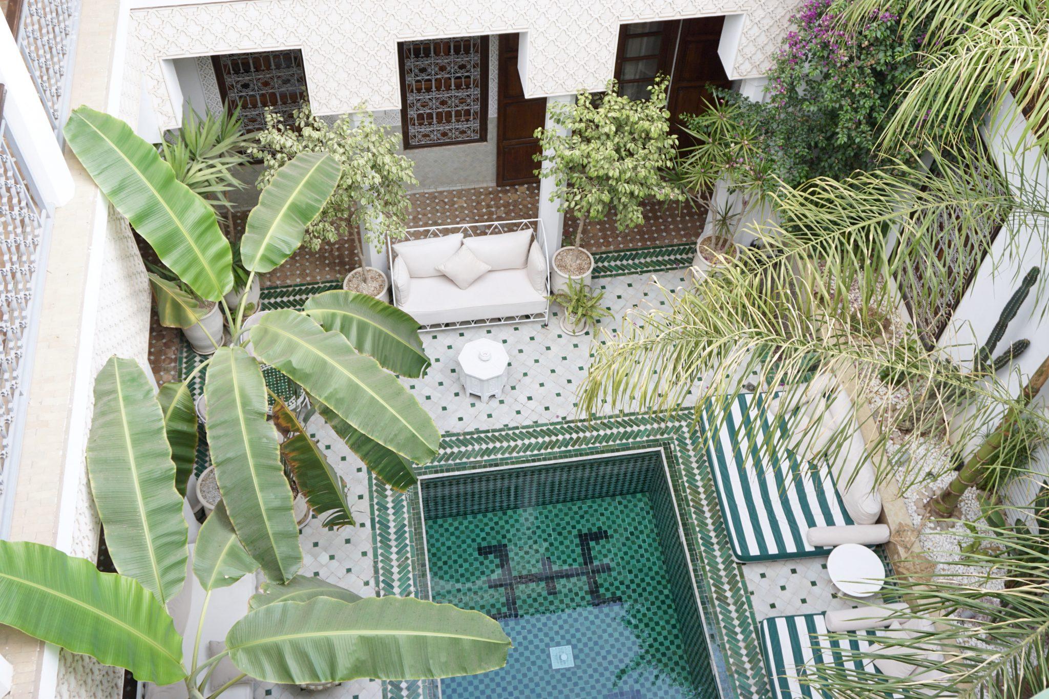 riad yasmine, pool, marrakech, morocco