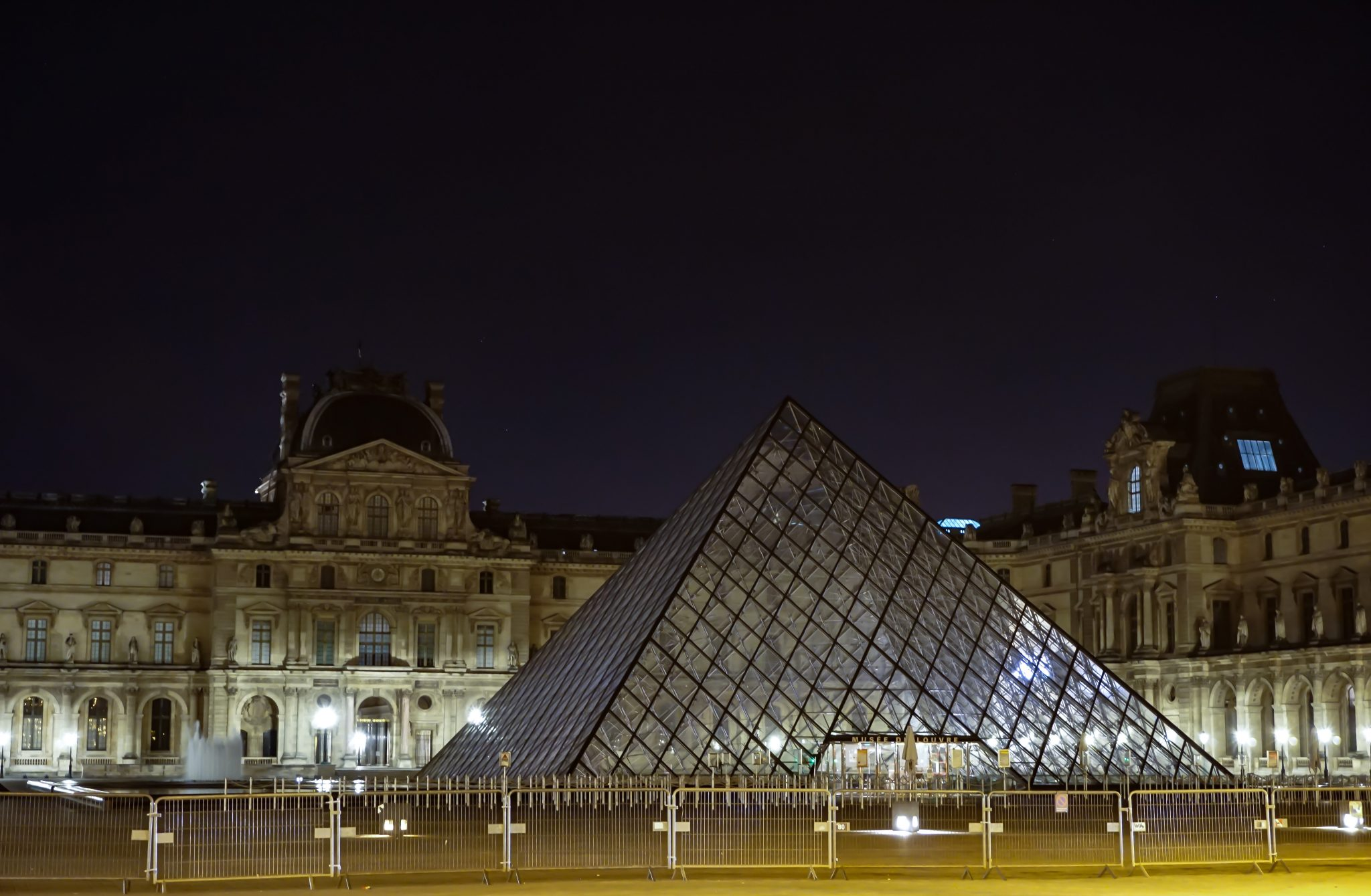 Louvre museum, paris, night, tour