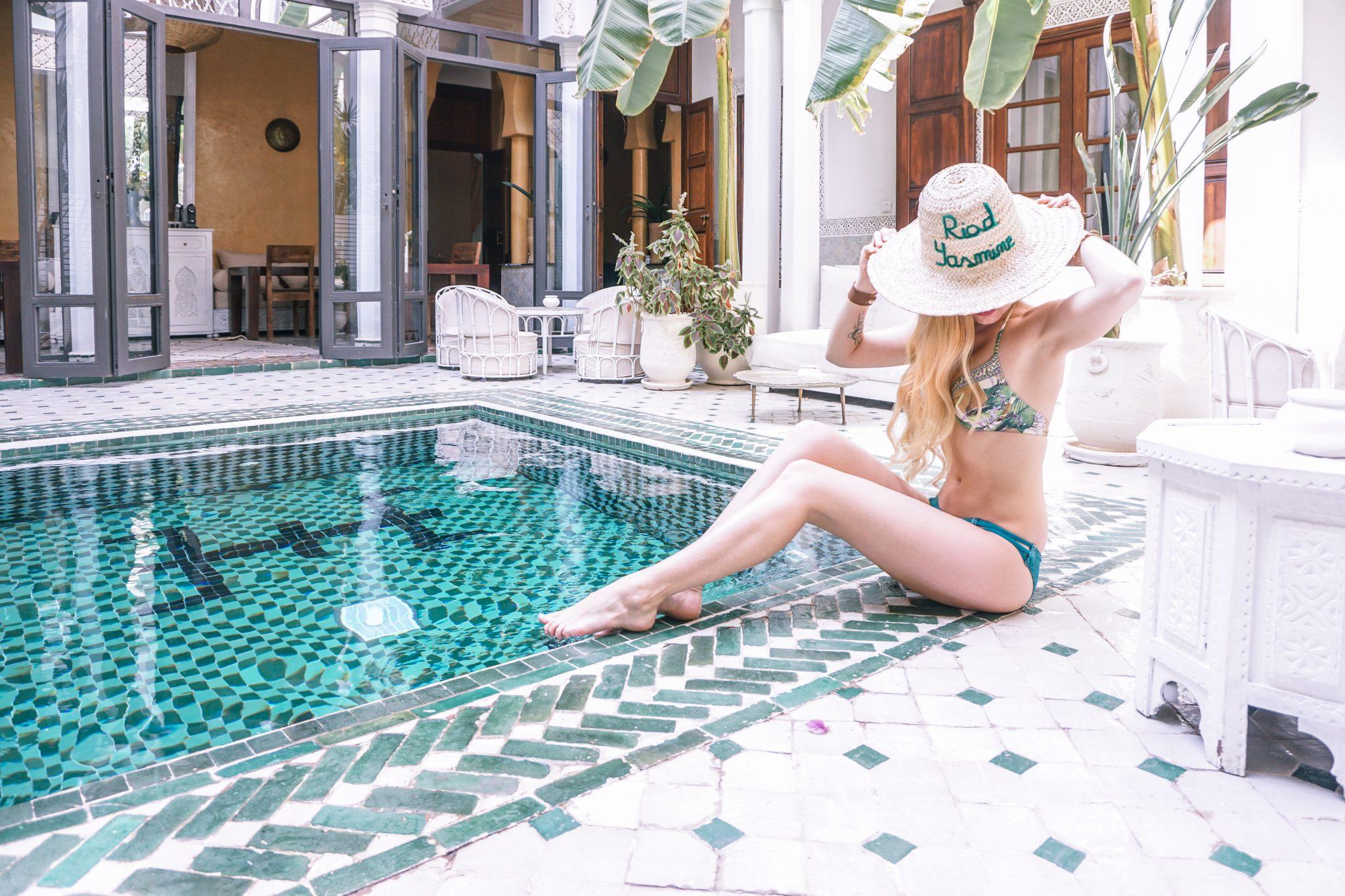 riad yasmine, pool, morocco
