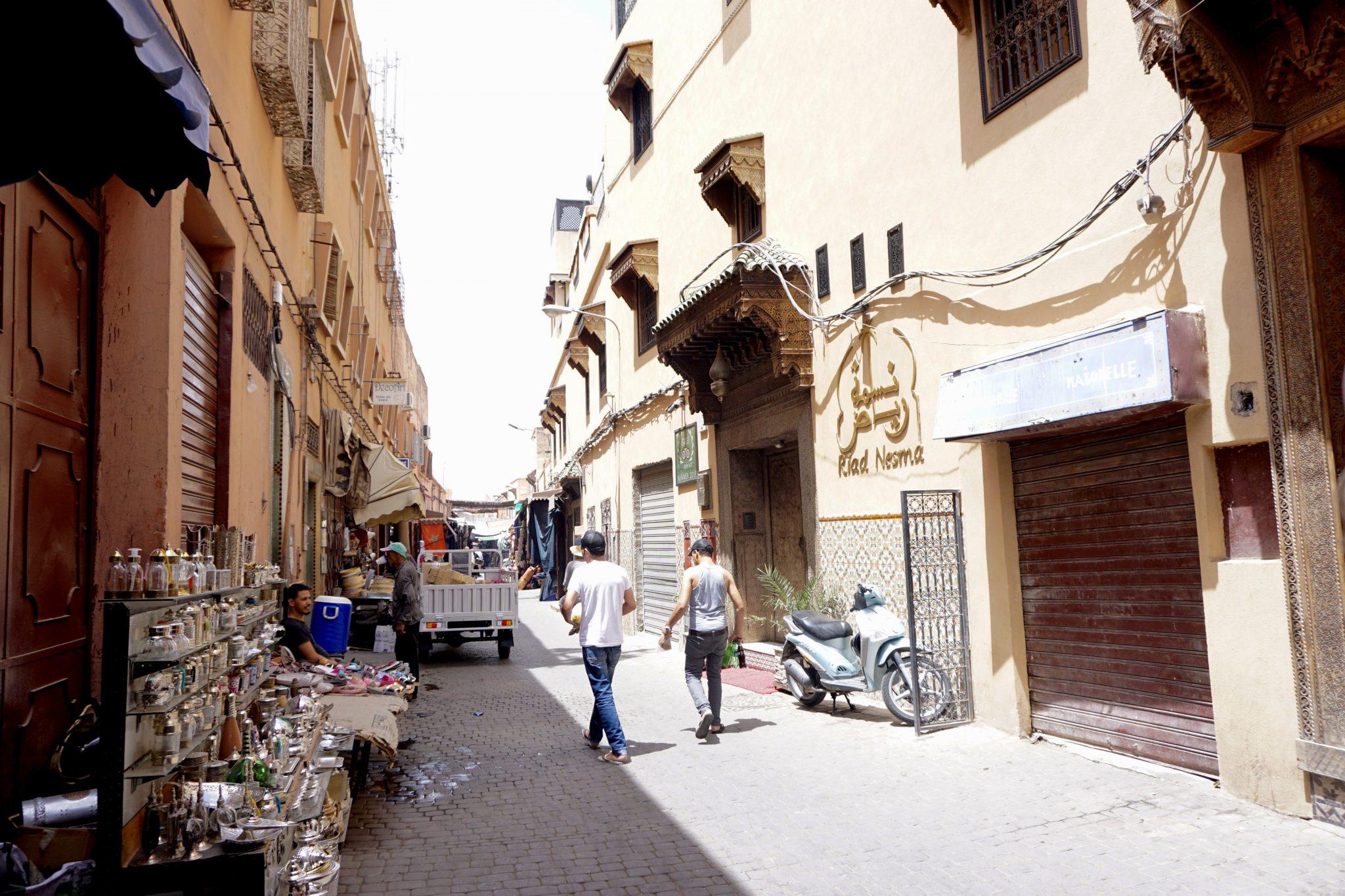 marrakech, street, morocco