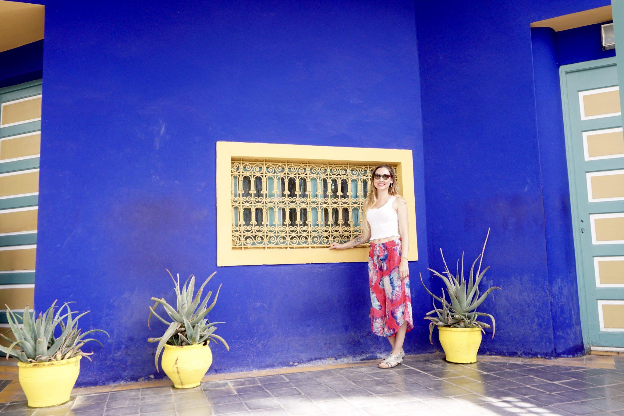 marjorelle gardens, marrakech, blue