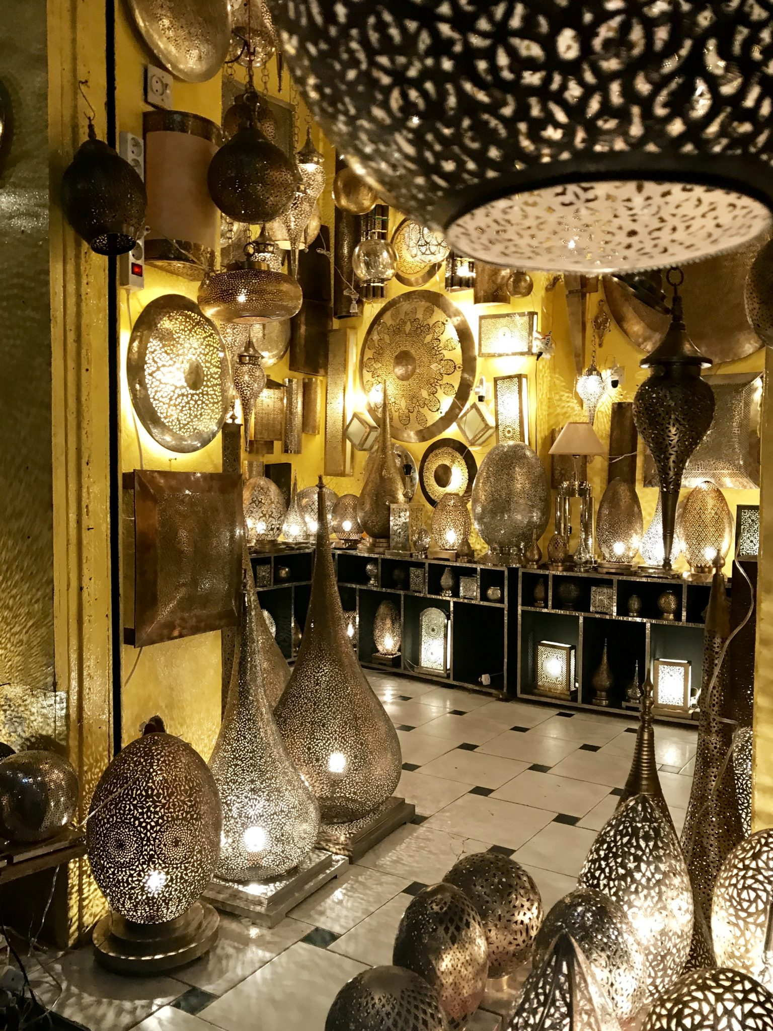 marrakech, lamps, shopping, souks