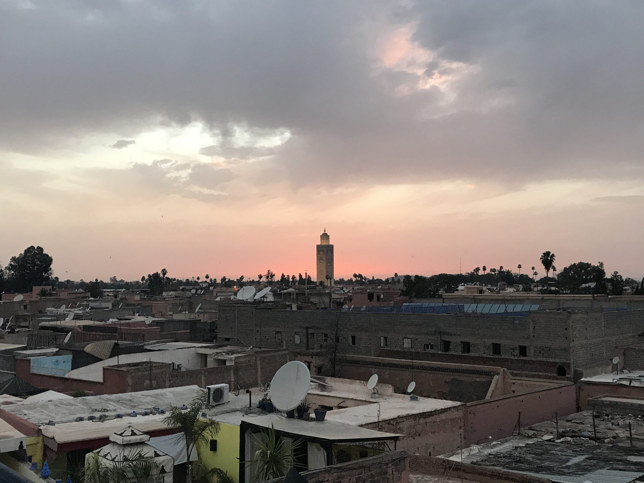 Koutoubia Mosque, Marrakech, sunset