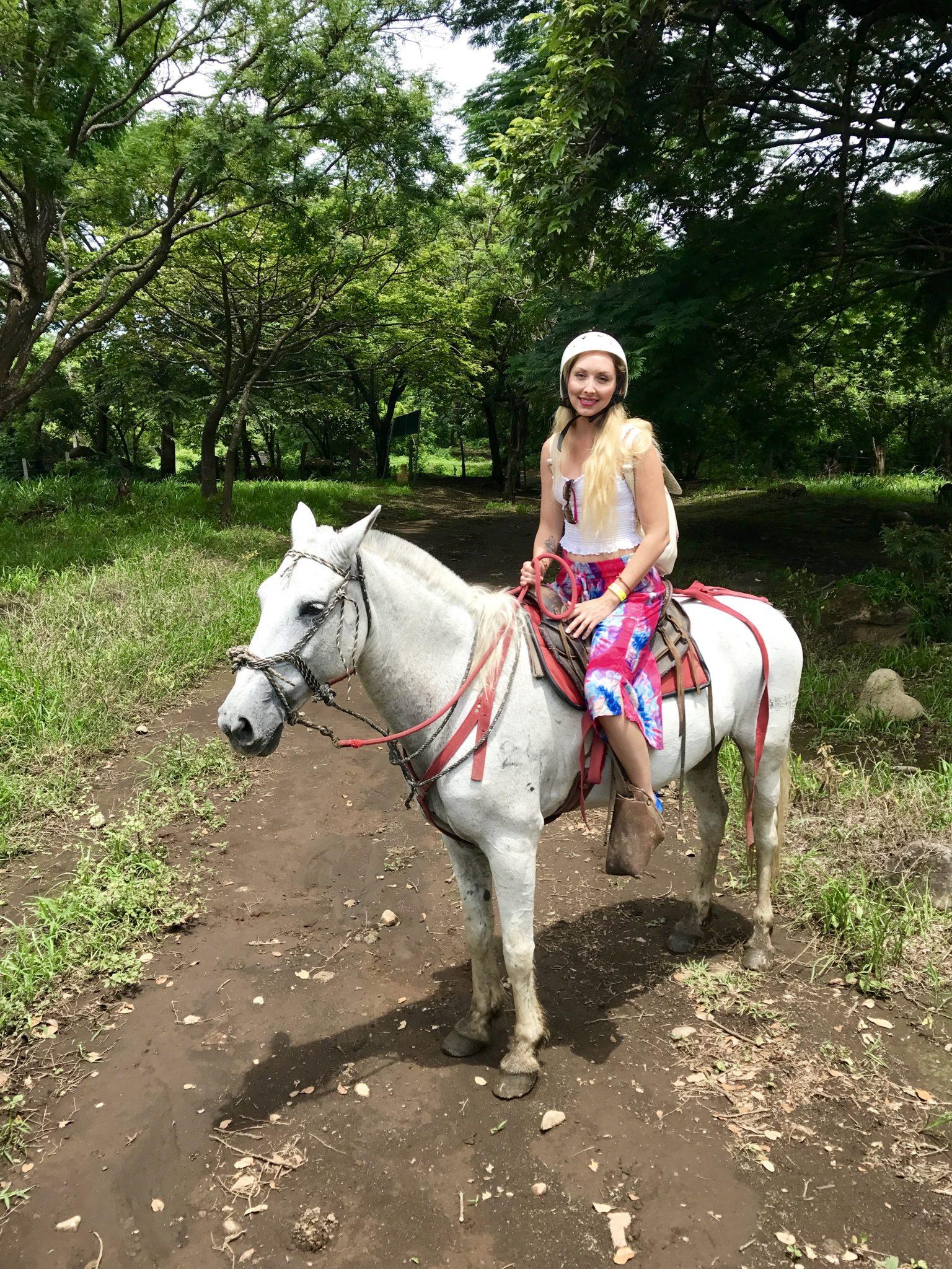 rincon de la vieja, waterfall, oropendula, horseback riding, costa rica