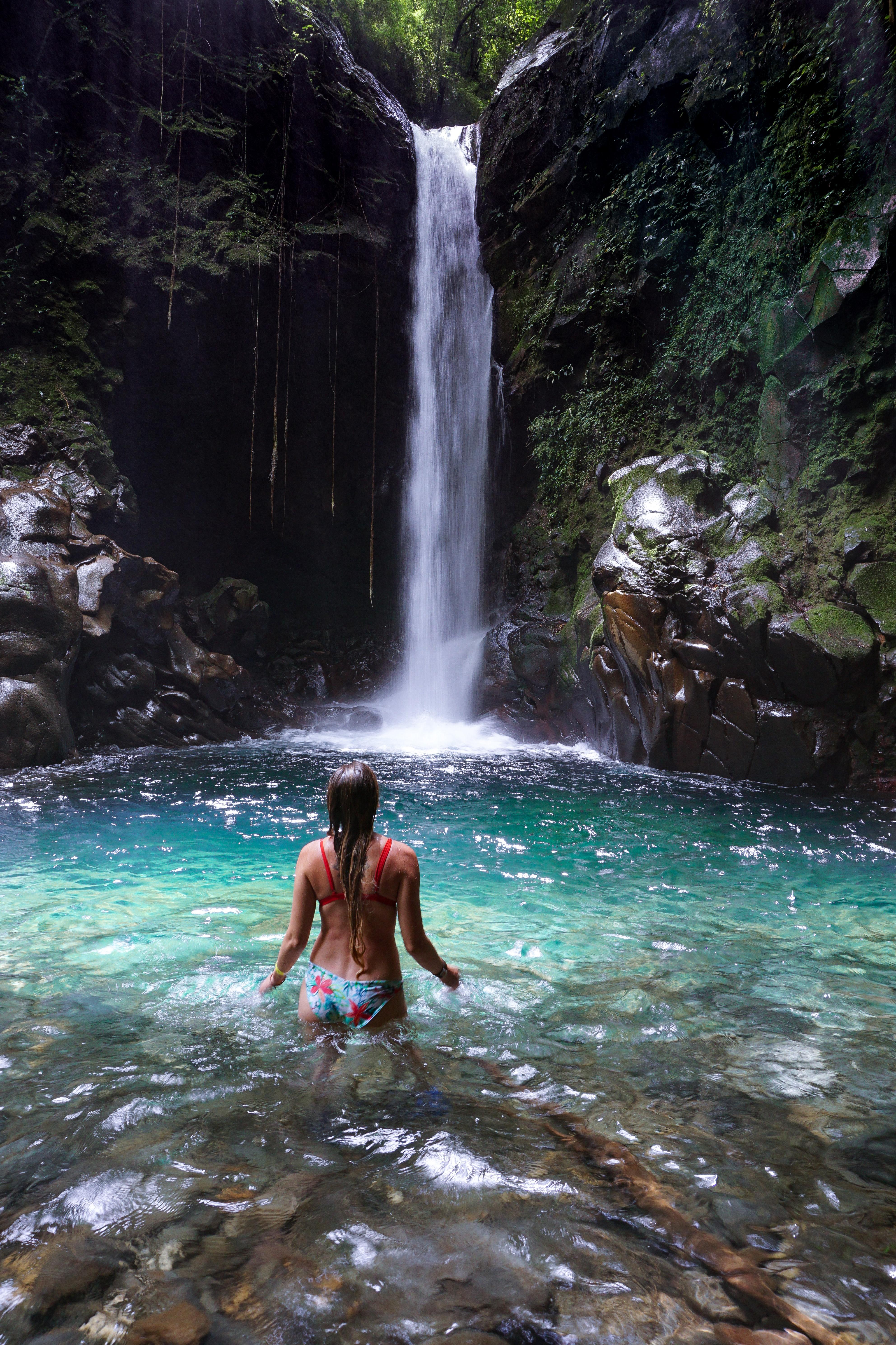 waterfall, oropendula, rincon de la vieja, liberia, costa rica, rincón de la vieja