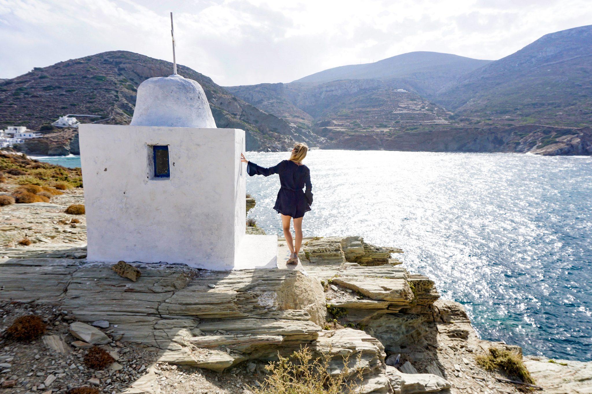hiking folegandros, greece