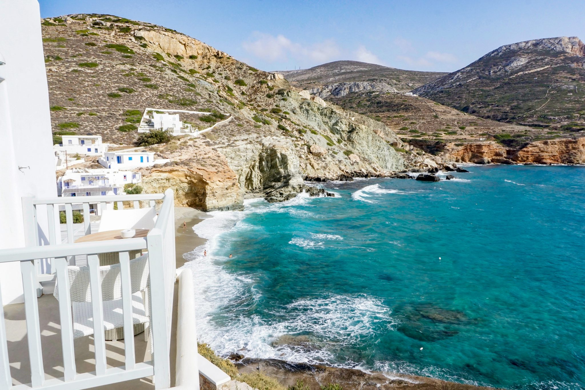 Blue Sand Hotel beach, Folegandros, Greece