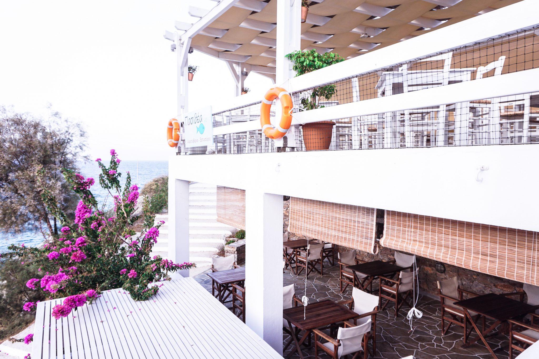 blue sand hotel restaurant, folegandros, greece
