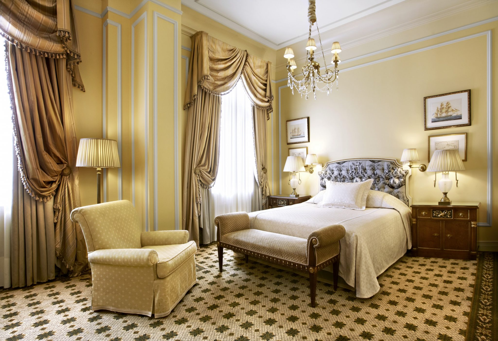 rooms at Hotel Grande Bretagne, Athens, Greece
