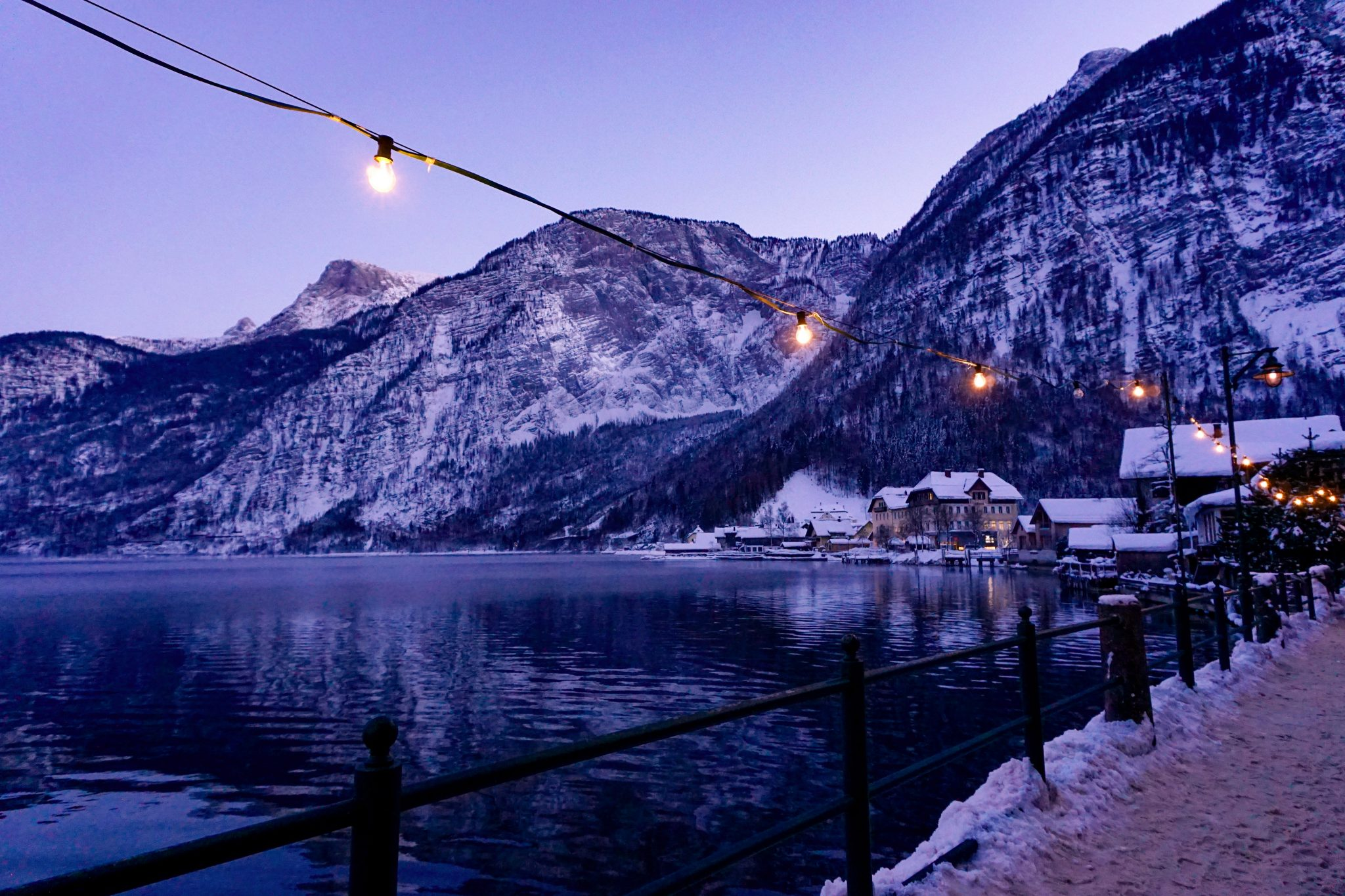 hallstatt, austria, winter