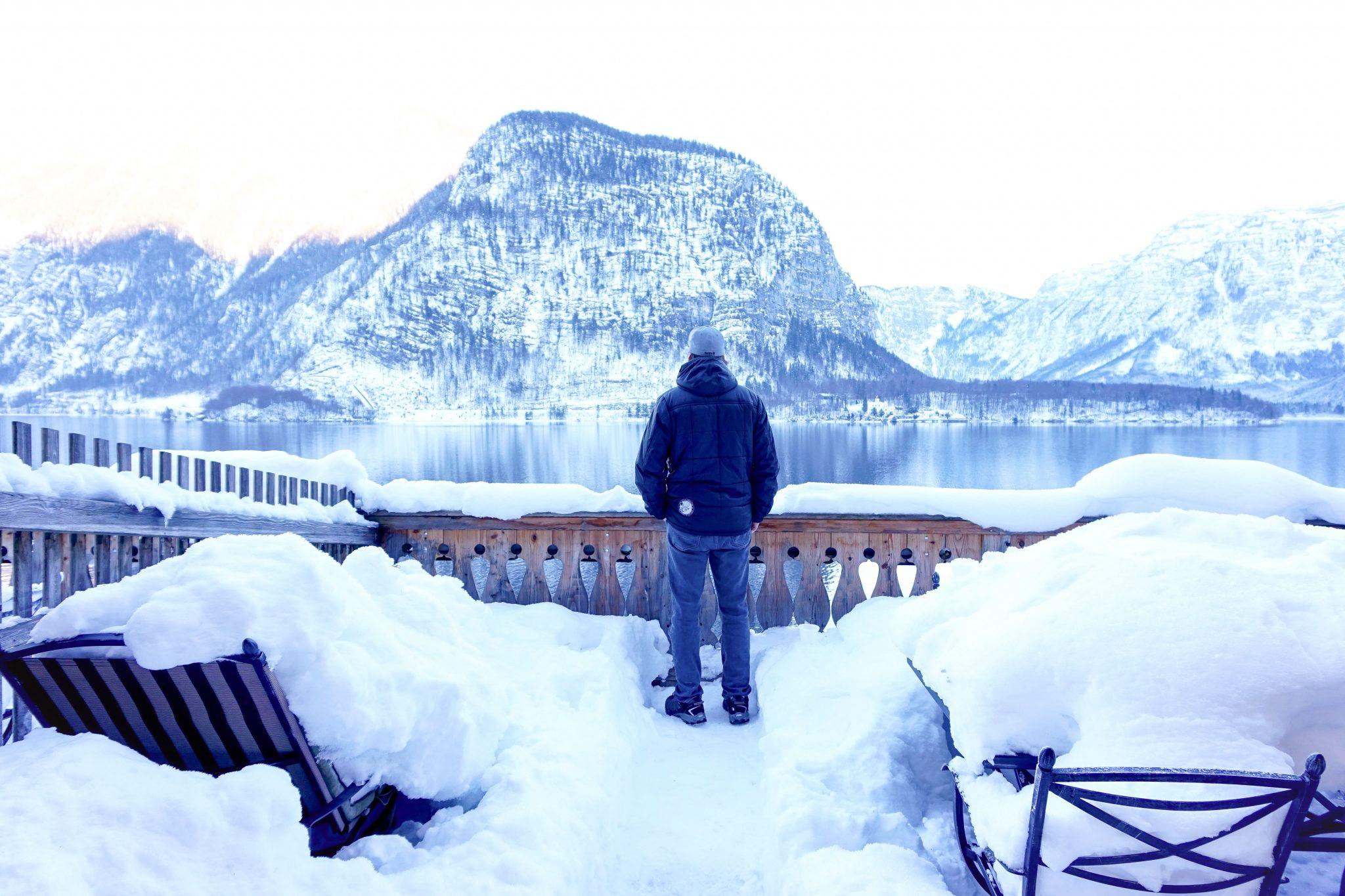 Seehotel Gruner Baum, Hallstatt in winter, Austria