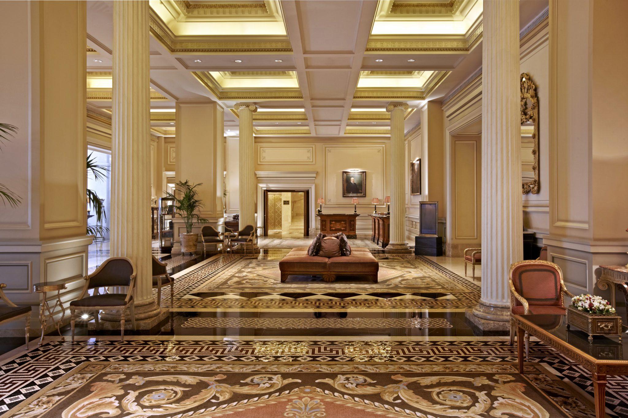 Hotel Grande Bretagne, lobby, Athens, Greece