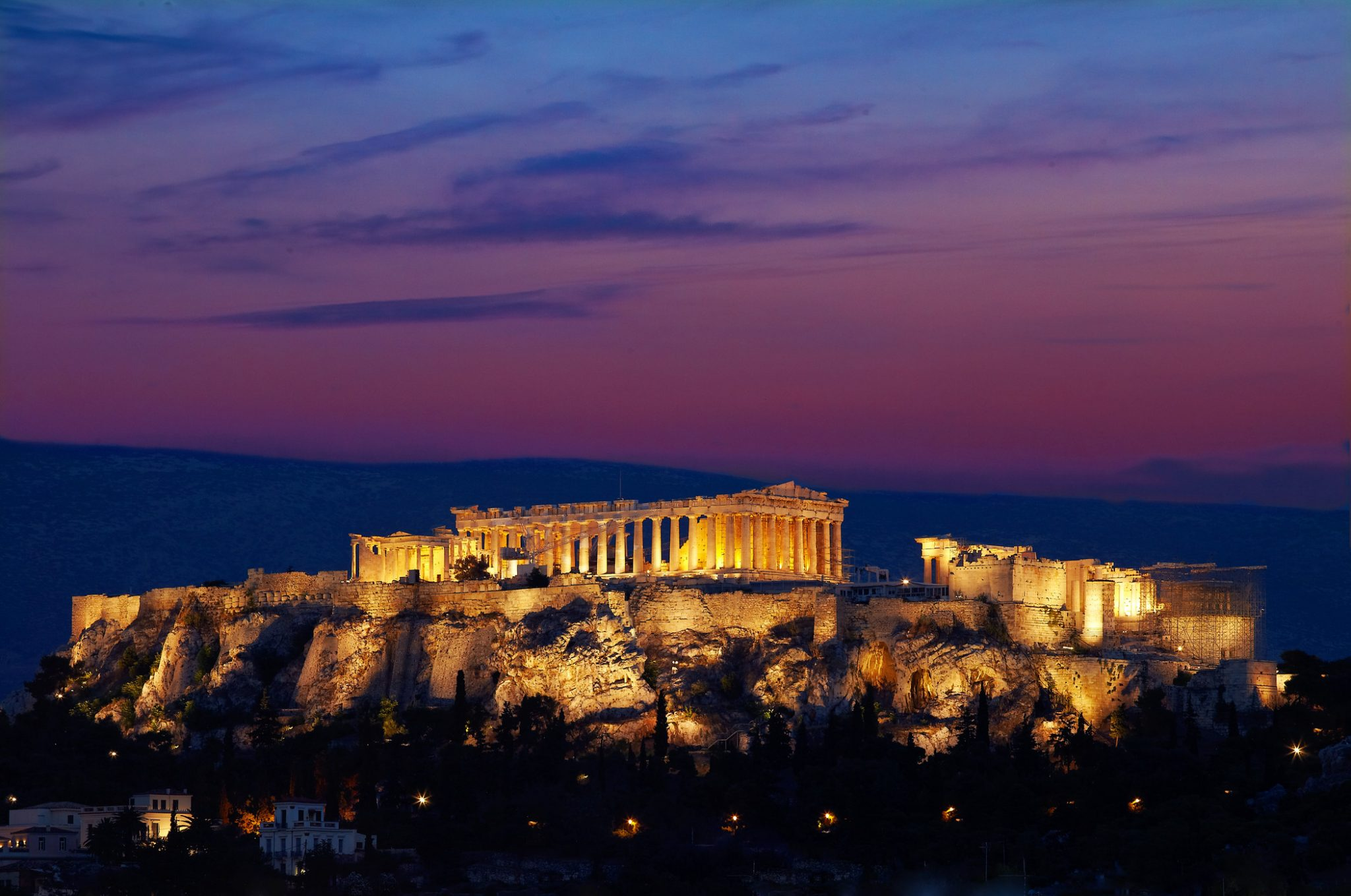 View of the Acropolis from Hotel Grande Bretagne rooftop