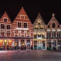 Bruges market square, Christmas