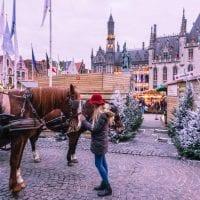 Bruges, Belgium carriage ride, Bruges Christmas Market