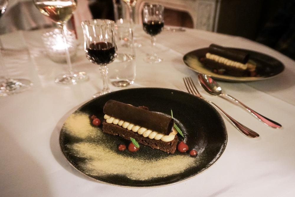 dessert, dining, Le Mystique, Hotel Heritage, Bruges, Belgium