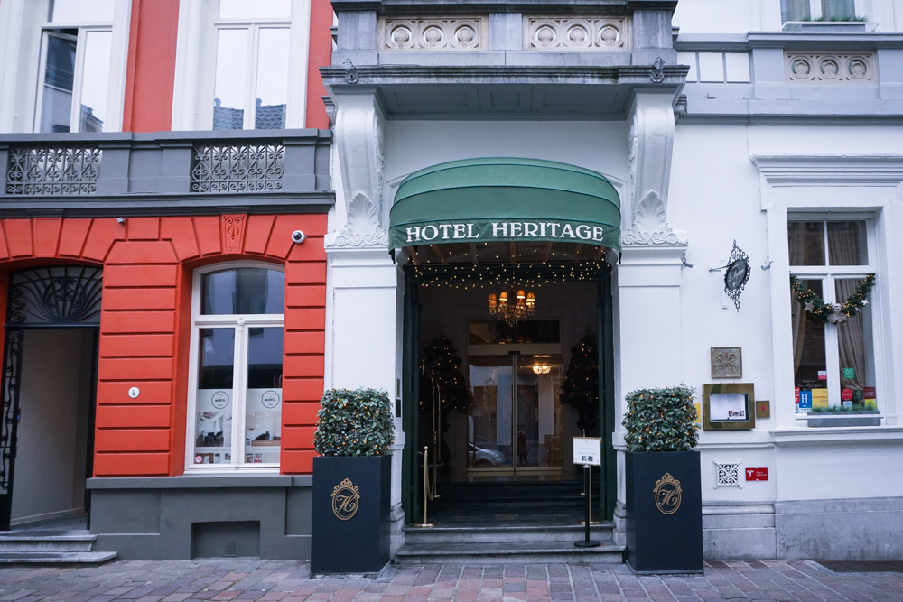 Hotel Heritage entrance from street