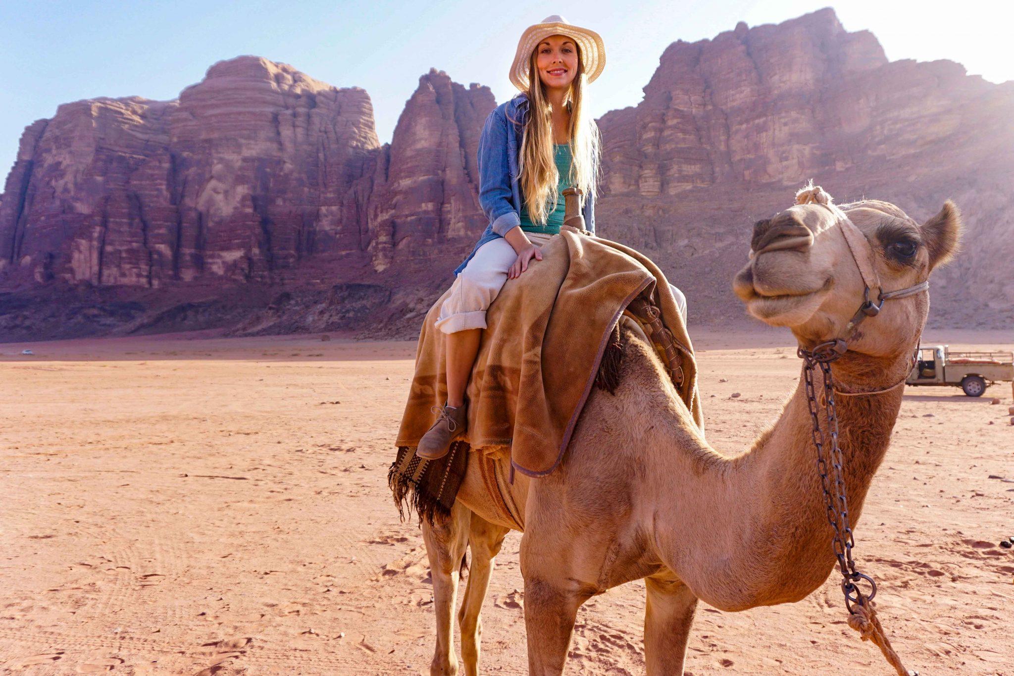 camel riding, wadi rum, jordan