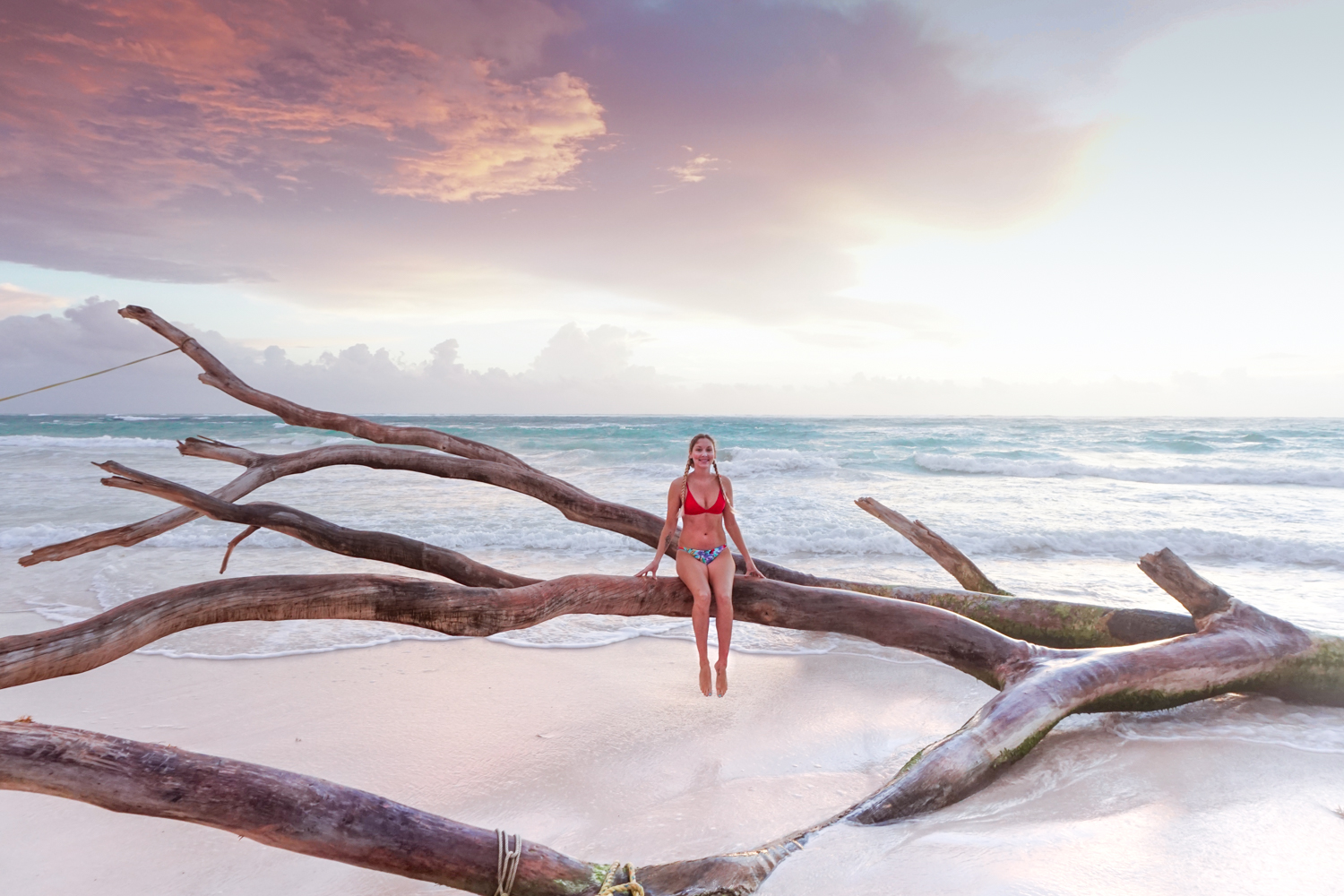 tulum beach, tulum sunrise