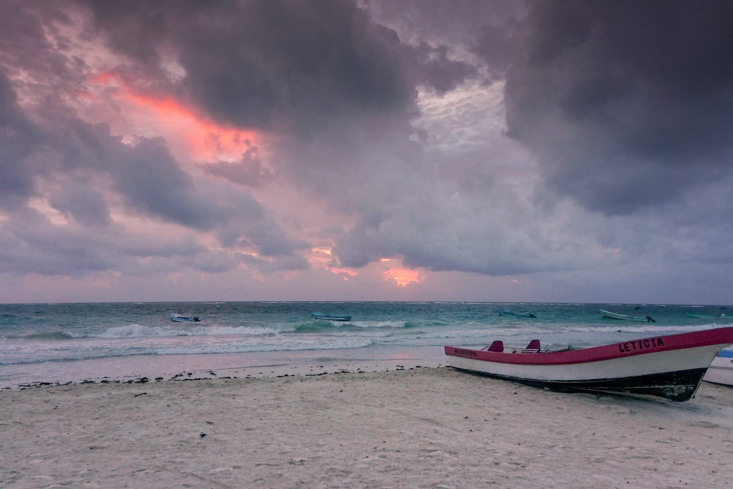 santa fe beach, tulum sunrise
