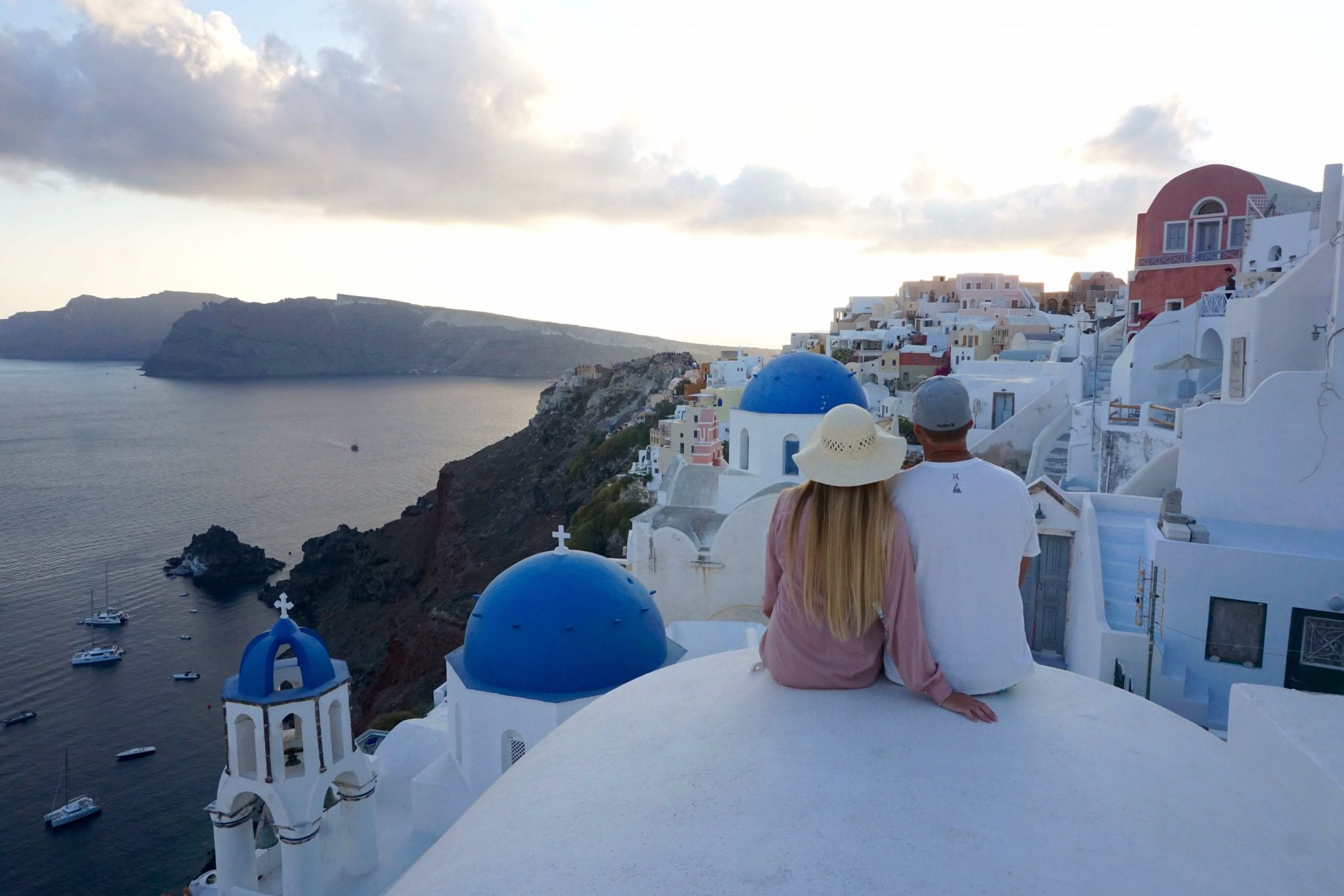 rooftop of Airbnb in Oia, Santorini