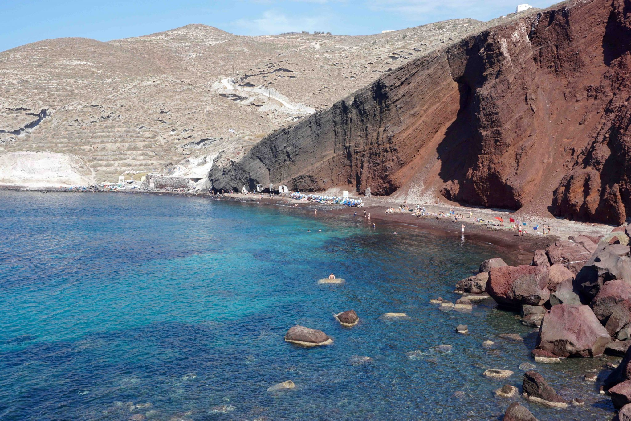 Red Sand beach, Santorini