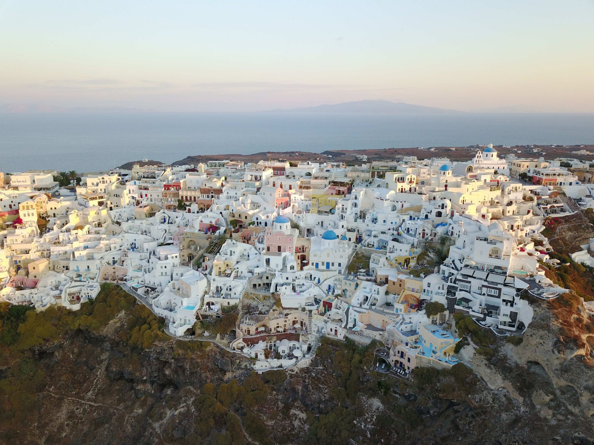 Oia Drone view