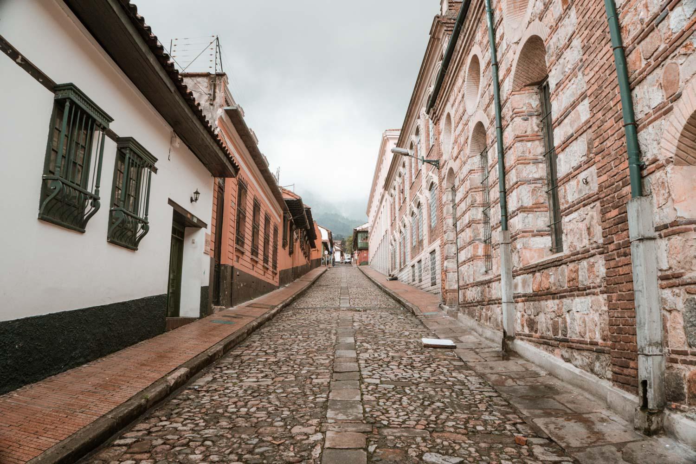 cobblestoned streets of bogota