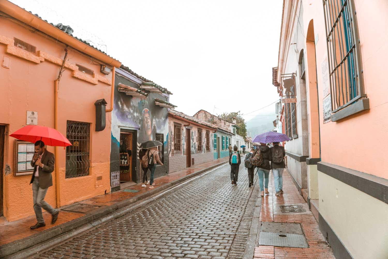 rainy streets of bogota
