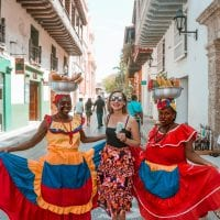 cartagena costumed ladies