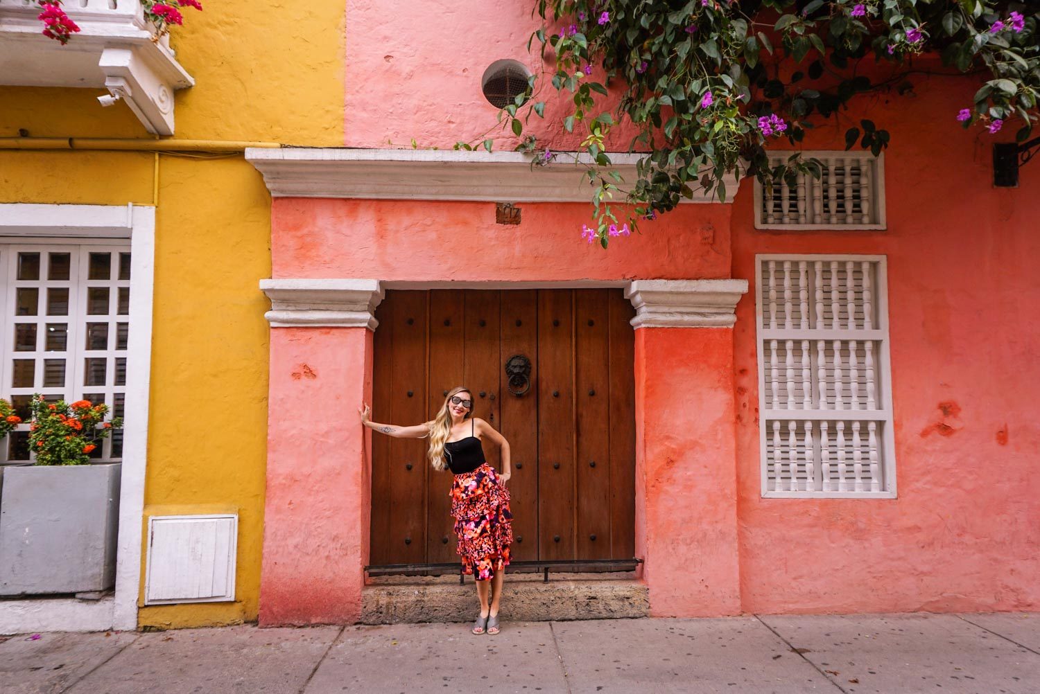 colorful streets of cartagena old center