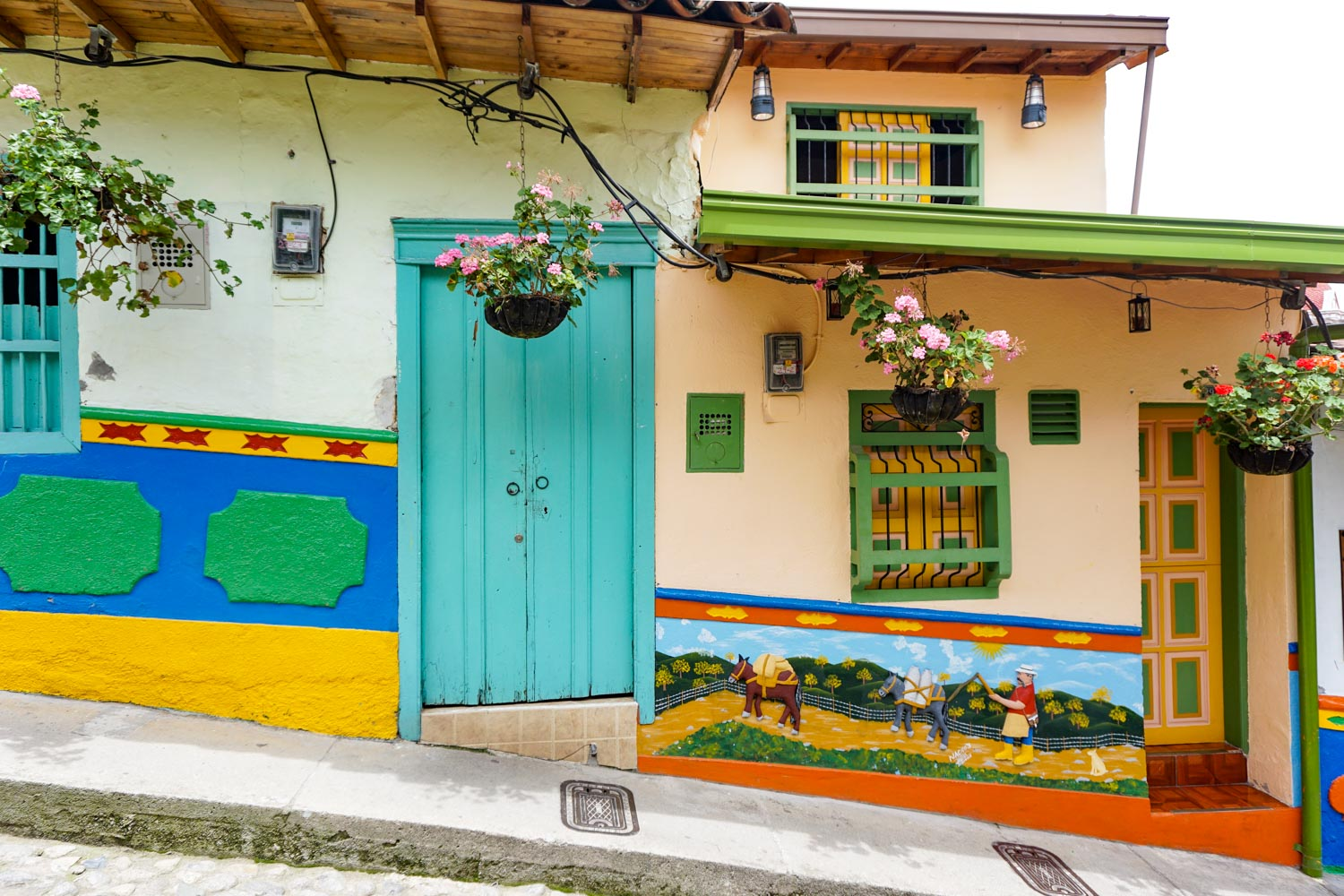 colorful streets of guatape colombia