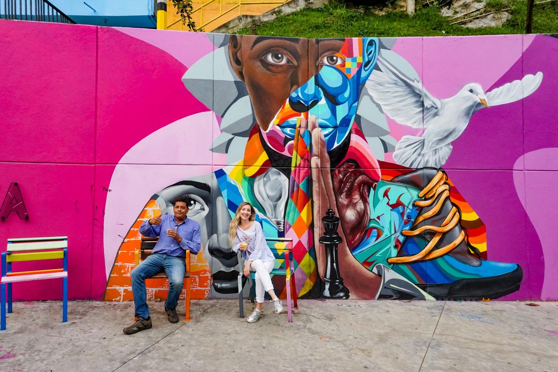 Comuna 13 street art, medellin colombia