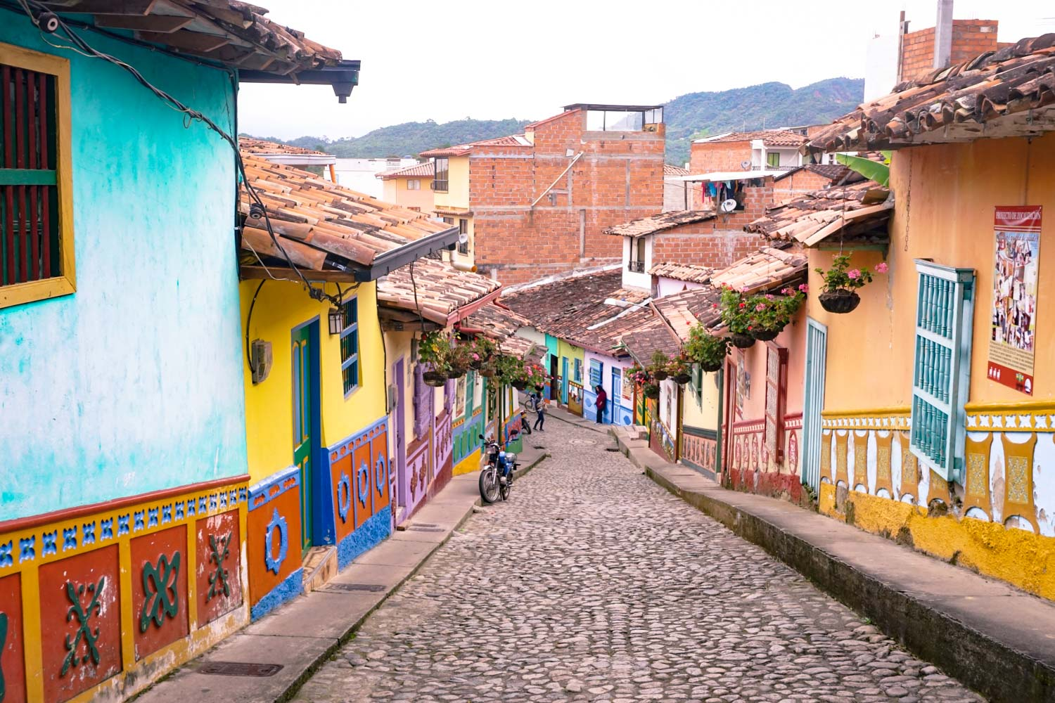 Guatape Colombia colorful streets