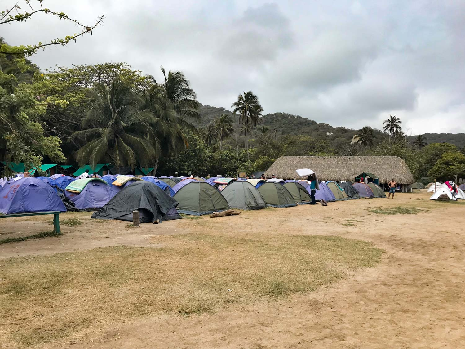 camping at Tayrona National Park, colombia