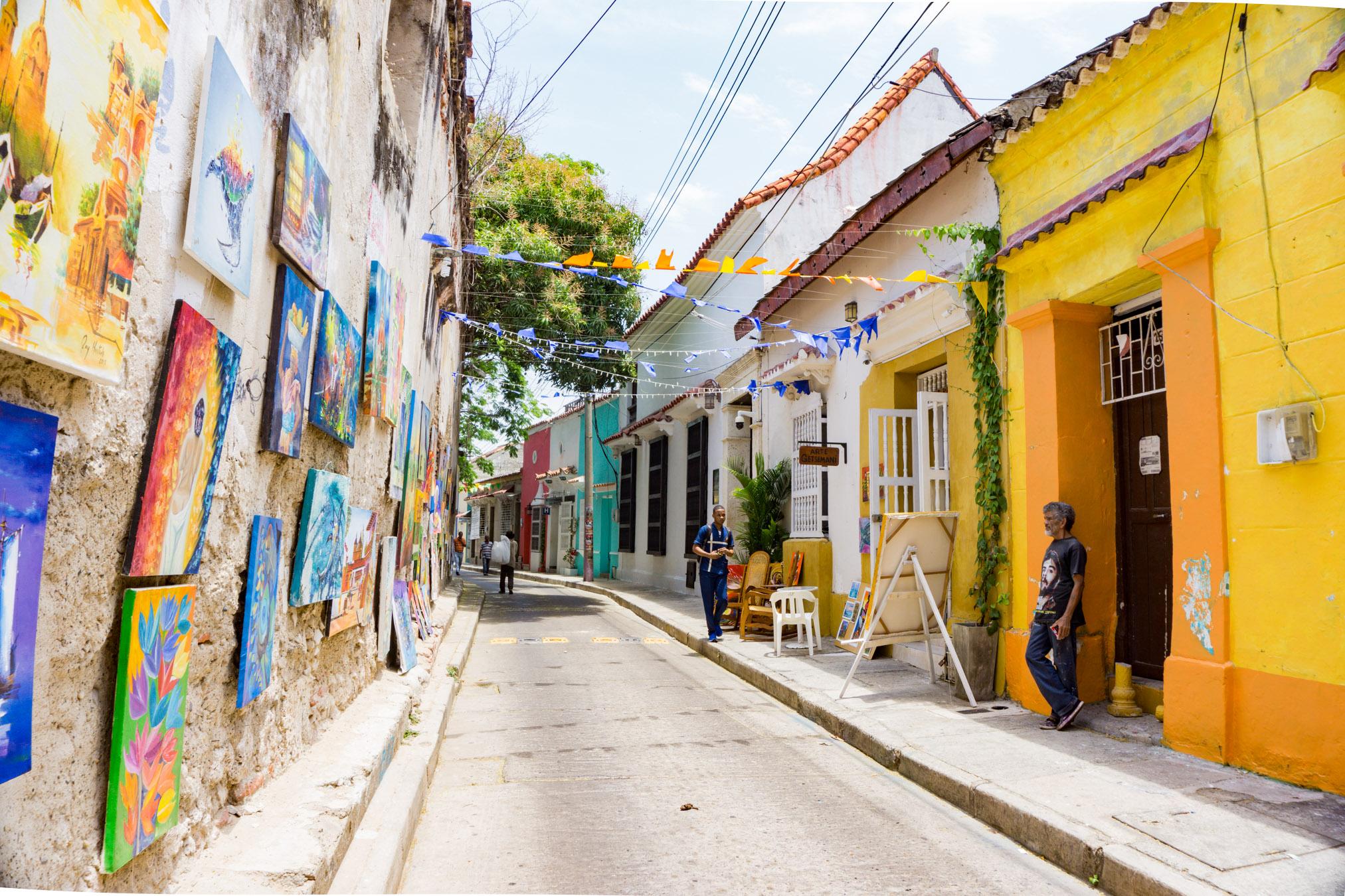 Calle del San Juan Getsemani Cartagena