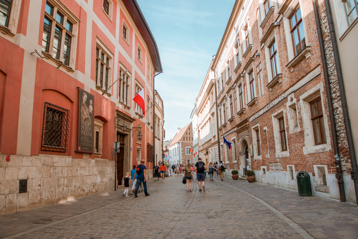 cobblestone streets of krakow
