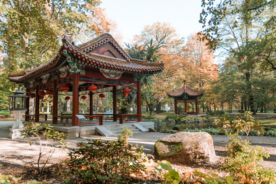 Japanese gardens Lazienki Park